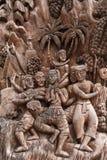 En bois sculpté par tradition de la Thaïlande photographie stock