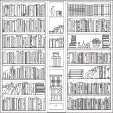 En bokhylla med personlig tillhörigheter Arkivbild