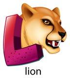 En bokstav L för lejon vektor illustrationer