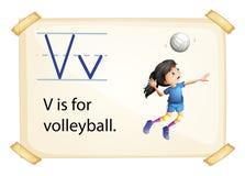 En bokstav V för volleyboll royaltyfri illustrationer