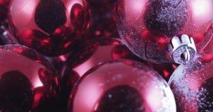 En bolas a granel de la Navidad almacen de metraje de vídeo