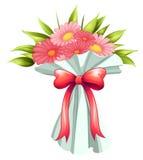 En boquet av rosa blommor Arkivfoton