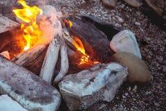 En brand Arkivfoton