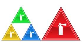 En brandsläckaresymbol, tecken, illustration Royaltyfri Foto