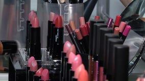 En bred variation av makeupskönhetsmedel lager videofilmer