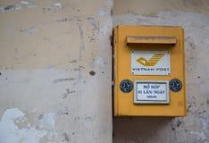 En brevlåda av den Vietnam stolpen och Telekommunikation Korporation Arkivbild