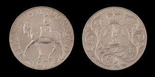 En brittisk krona royaltyfria foton