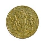 En brittiska pund isolerat mynt 2003 royaltyfria foton