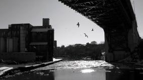 En bro över lägenheterna i Cleveland Royaltyfri Fotografi
