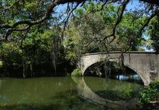En bro i Audubon parkerar New Orleans royaltyfria bilder