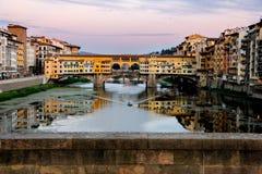 En bro i Florence, Italien Fotografering för Bildbyråer