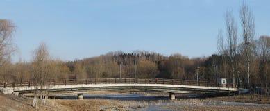En bro i vinter Royaltyfri Fotografi