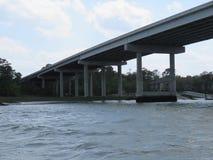 En bro till serenitet -- Hilton Head Island Arkivbild