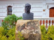 En bronsbyst av James Rooke, befälhavare av den brittiska legionen, som hjälpte armén för Simon Bolivar ` s att vinna självständi arkivfoto