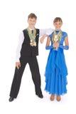 or en bronze argent de beaucoup de médailles Images stock