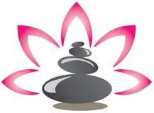 En brunnsort stenar logo Royaltyfria Bilder