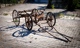 En bruten vagn Fotografering för Bildbyråer