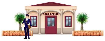 En budbärare framme av stolpen - kontor stock illustrationer