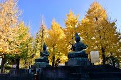 En Buddhastaty, Sensoji tempel i Tokyo, Japan Arkivfoton