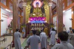 En buddistisk bön Royaltyfri Bild