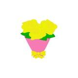 En bukett av gula rosor Royaltyfria Bilder