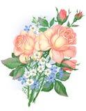 En bukett av härliga gula rosor Royaltyfri Foto