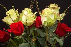 En bukett av rosor Royaltyfria Bilder