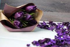 En bukett av tulpan Royaltyfri Foto