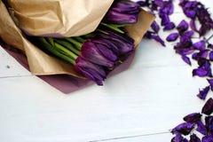En bukett av tulpan Royaltyfria Bilder