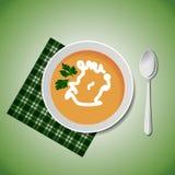 En bunke av soup vektor illustrationer