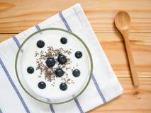 En bunke av yoghurt royaltyfria bilder