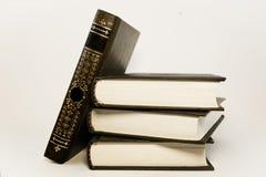 En bunt av den bruna boken Arkivfoton