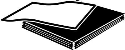 En bunt av den pappers- symbolen i svart med 1 sida åt sidan Royaltyfri Illustrationer