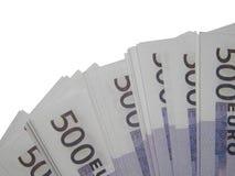 En bunt av euro för pengar 500 Royaltyfri Foto