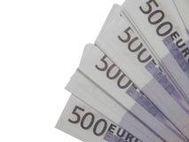 En bunt av euro för pengar 500 Royaltyfri Bild