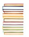 En bunt av färgrikt av bokar Arkivfoto