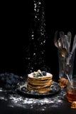 En bunt av pannkakor Fotografering för Bildbyråer
