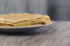 En bunt av pannkakor Royaltyfri Bild