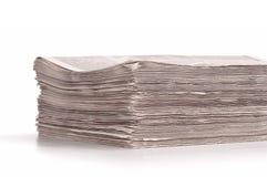 En bunt av vikta tidningar Royaltyfri Foto