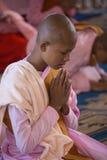 Burmese nunna - Bago - Myanmar arkivfoto
