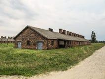 En byggnad av Auschwitz poland Royaltyfria Bilder