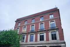 En byggnad i i stadens centrum Baltimore royaltyfria bilder