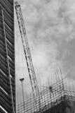 En byggnad under konstruktion Fotografering för Bildbyråer