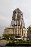 En byggnad under konstruktion i Hong Kong arkivbilder