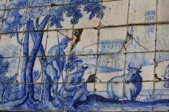 En céramique à Lisbonne Photos libres de droits
