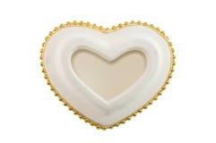 En céramique de coeur d'isolement sur le blanc Photographie stock