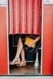 En cabina de la foto Fotografía de archivo