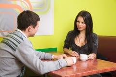 En café Image stock