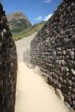 En calles de Machu Picchu Imagenes de archivo