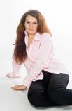 En camisa rosada Foto de archivo